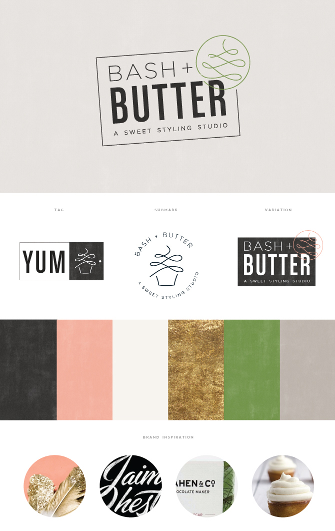 Bash + Butter Pattern Brand Guidelines Templates