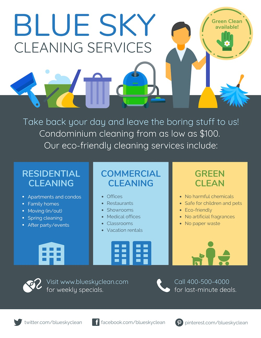 Blue Home Cleaning Flyer Template1