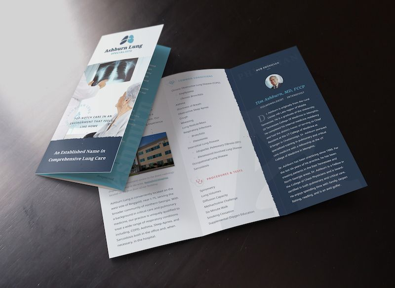 Blue Modern Business Marketing Brochure Example