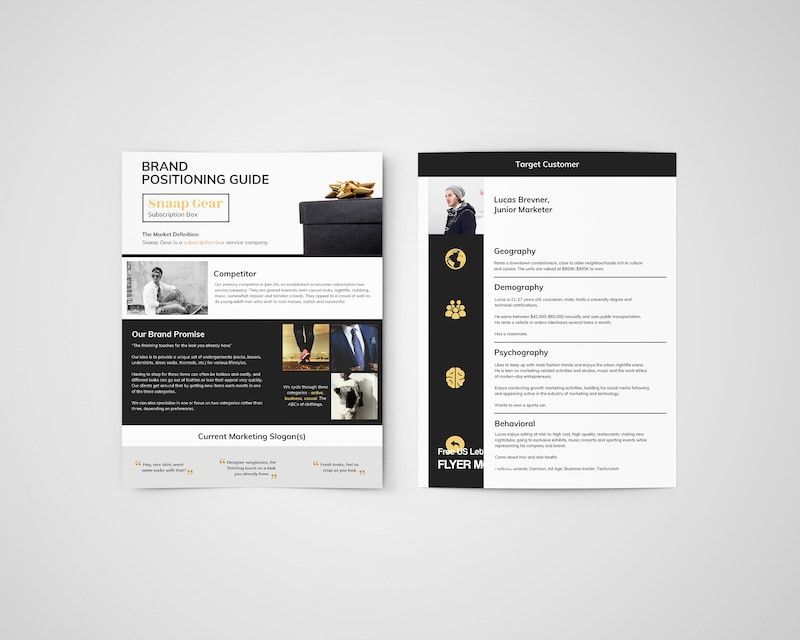 One Page Clothing Brand Guidelines Templates
