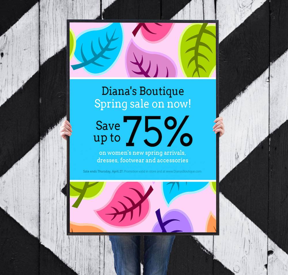 Colorful-Spring-Clothing-Sales-Flyer Template