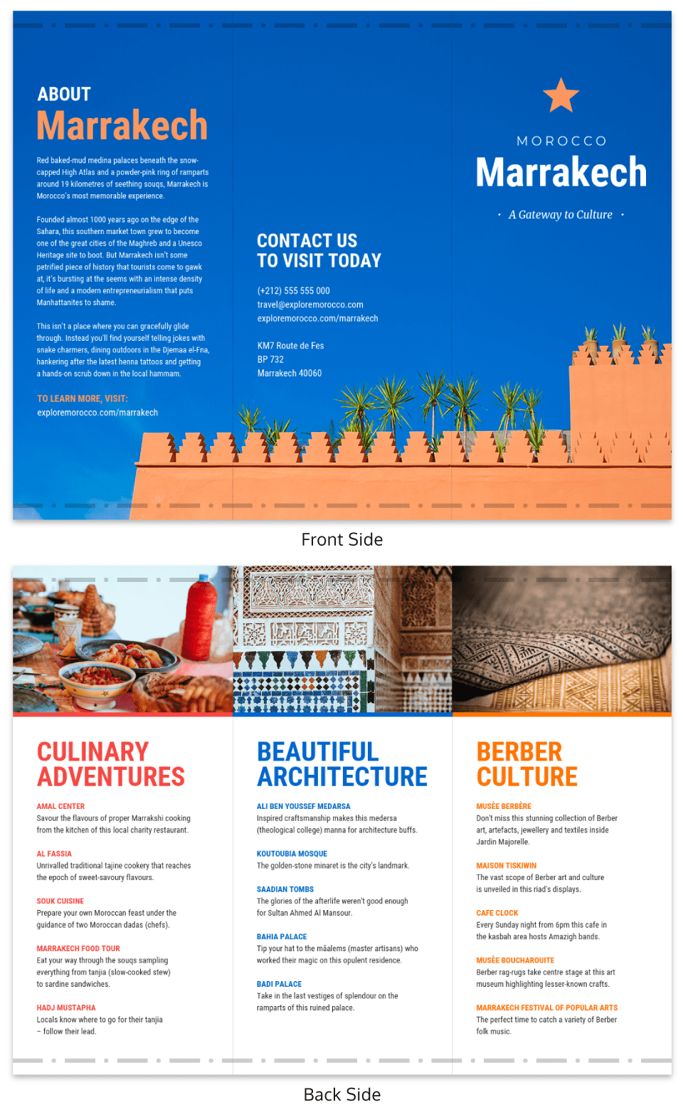 Colorful Travel Marketing Brochure Template