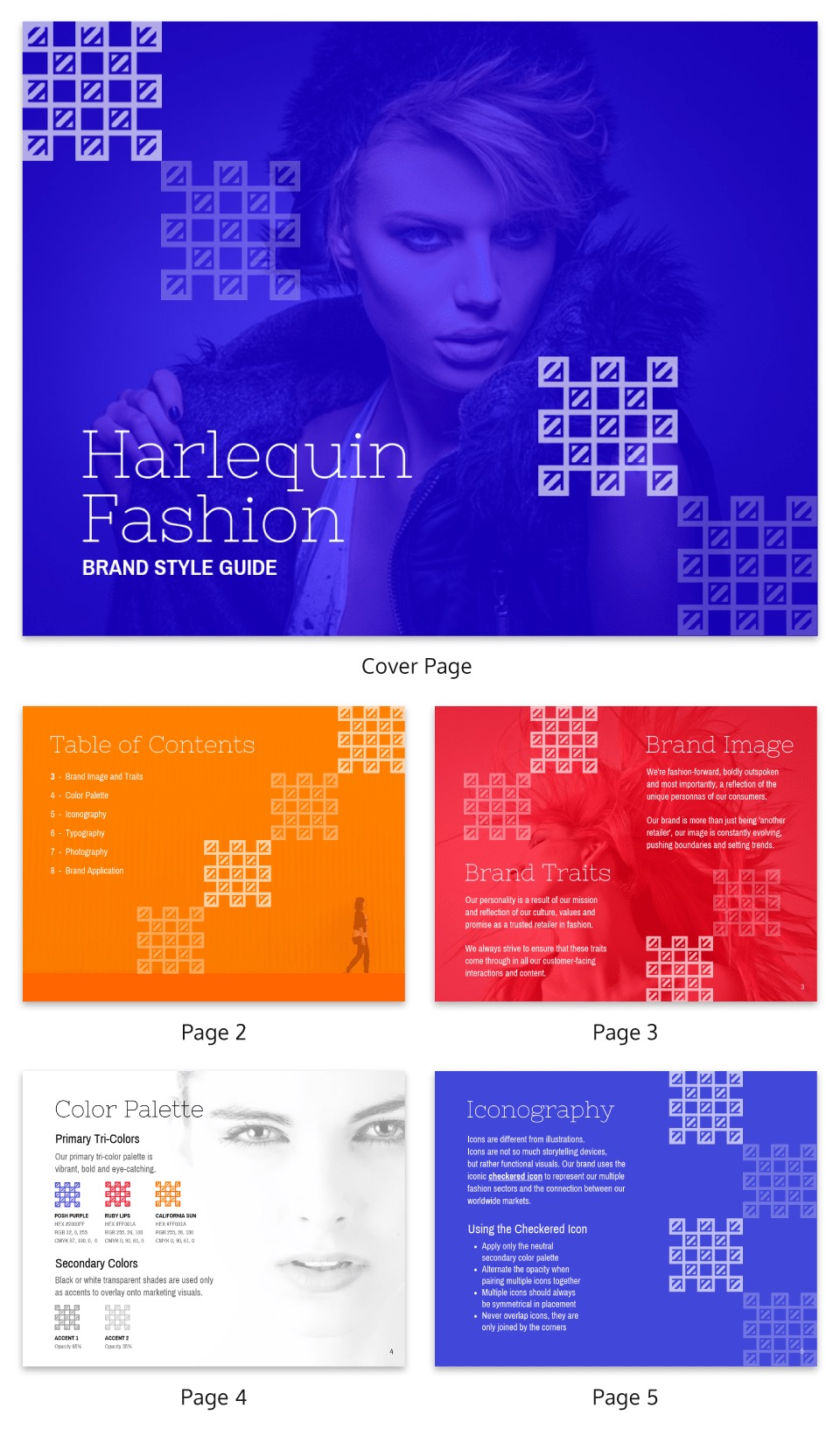 Creative Fashion Brand Guidelines Templates