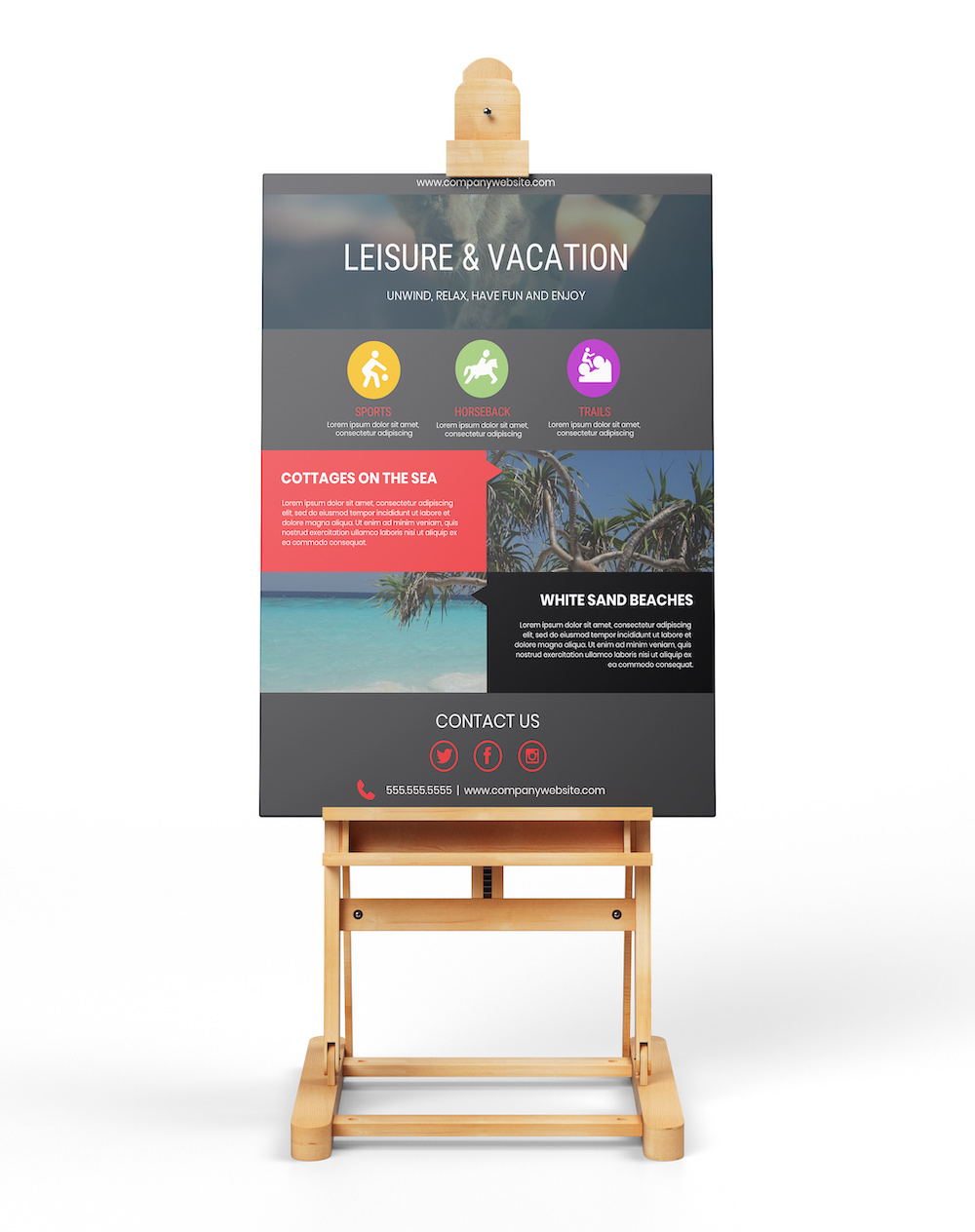Creative Summer Vacation Flyer Template