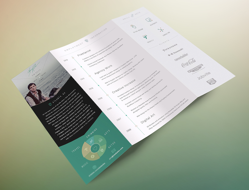 Creative Tech Marketing Brochure Example
