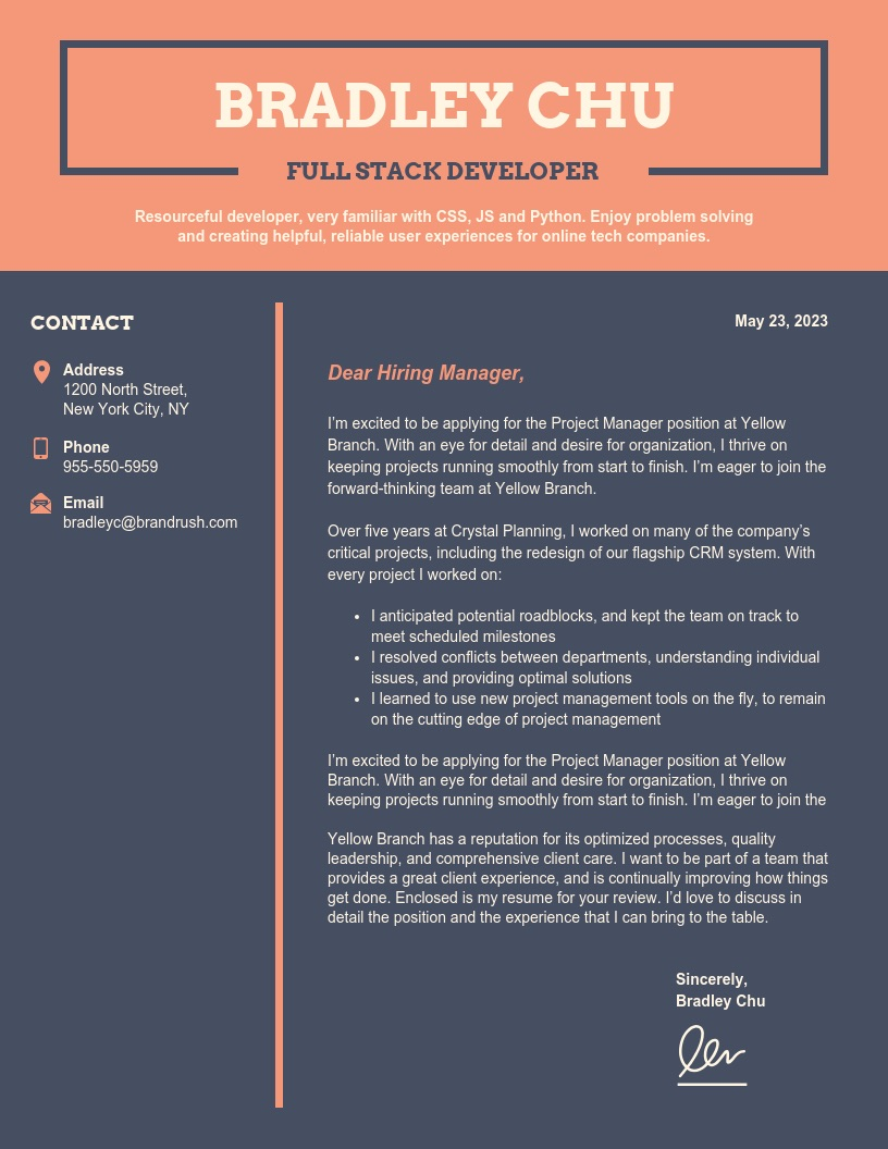 21 Cover Letter Templates And Expert Design Tips To Impress
