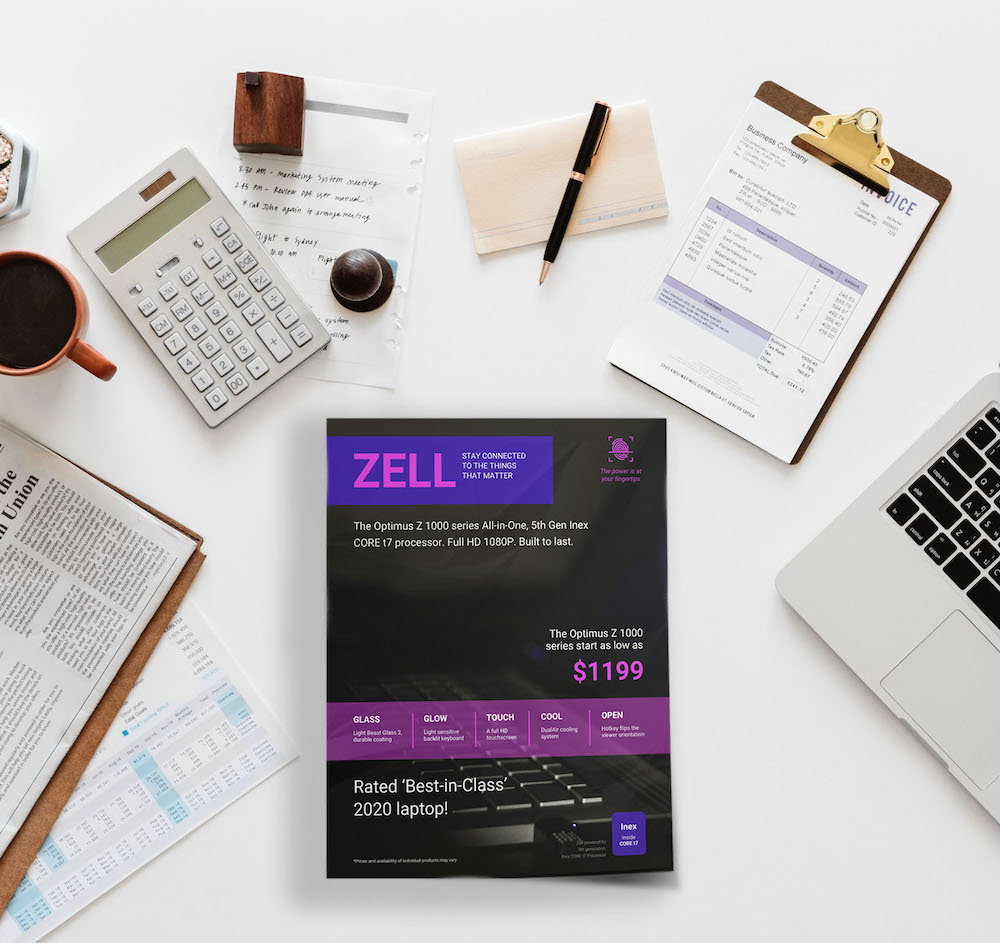 Futuristic Purple Sales Product Flyer Template