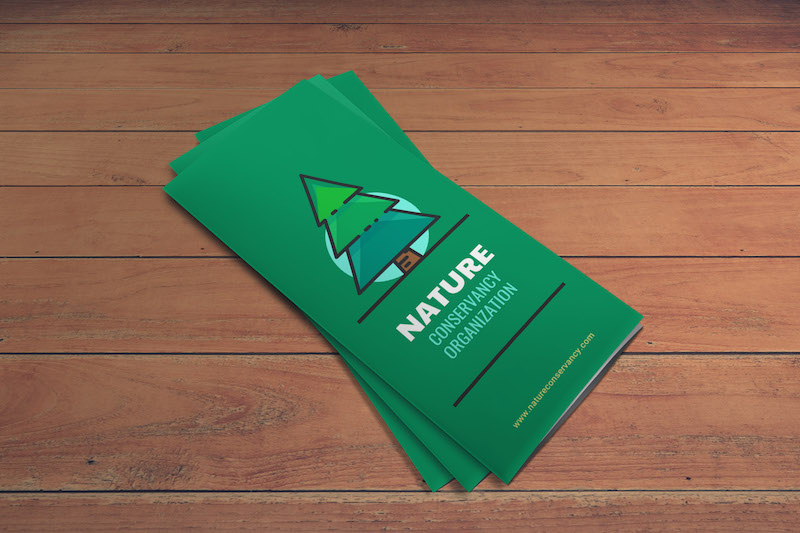 Illustrated Nonprofit Marketing Brochure Template