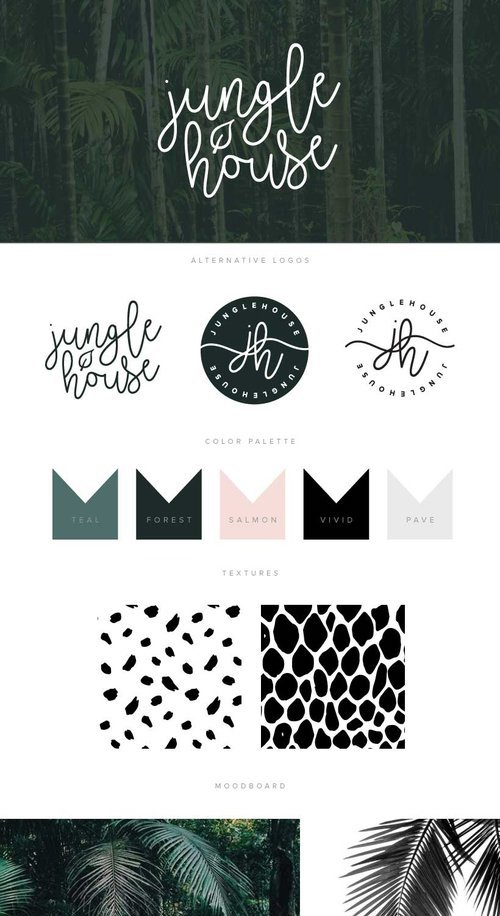 Jungle House Fashion Brand Guidelines Templates