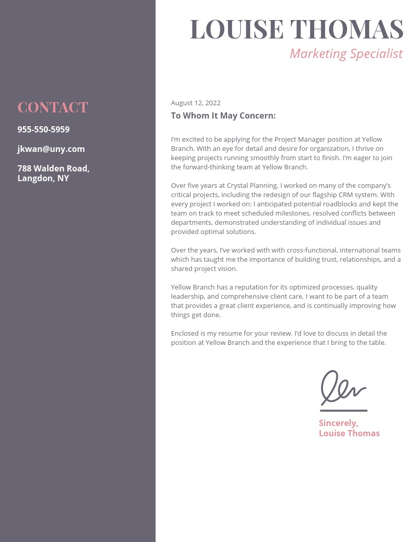 20  Creative Cover Letter Templates To Impress Employers