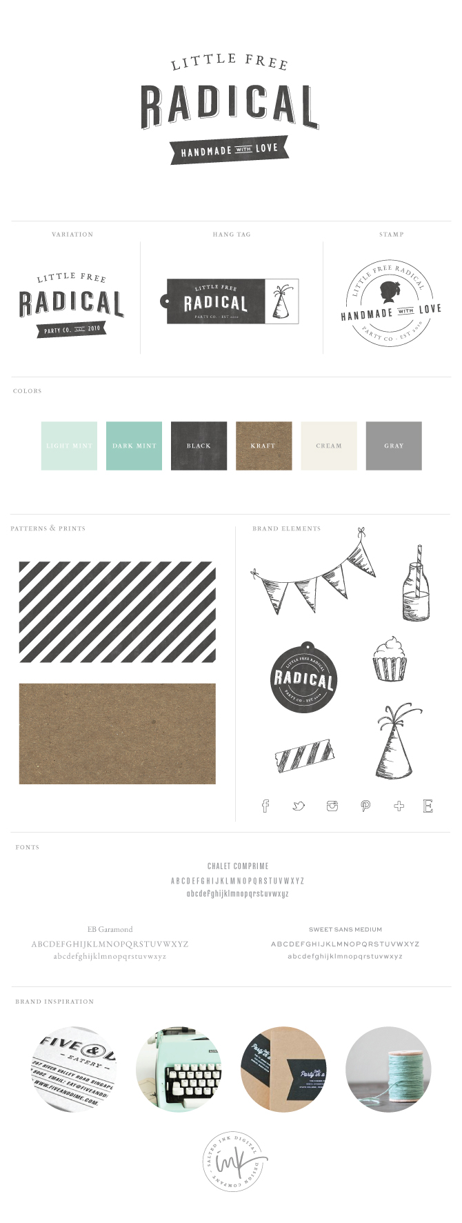 Little Free Radical Pattern Brand Guidelines Templates