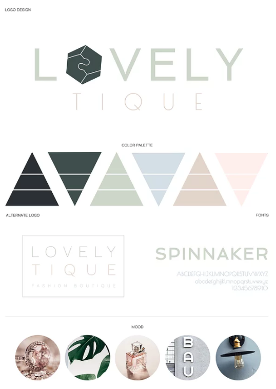 Lovelytique Color Palette Brand Guidelines Templates