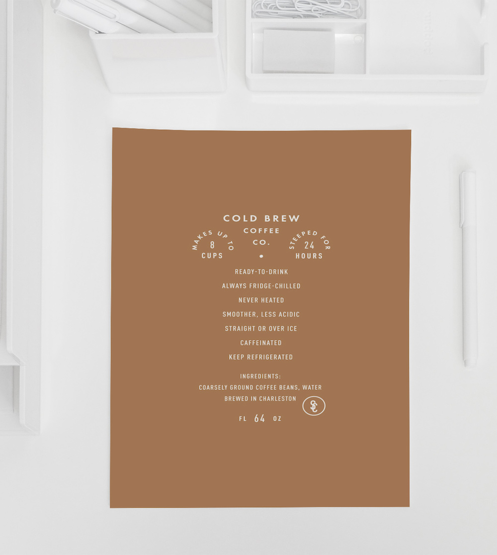 Minimalist Coffee Product Poster Example