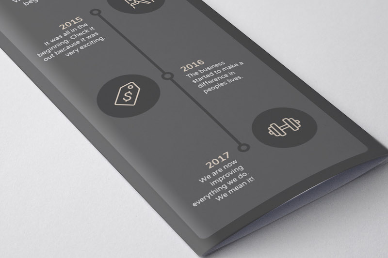 Minimalist Restaurant Marketing Brochure Example