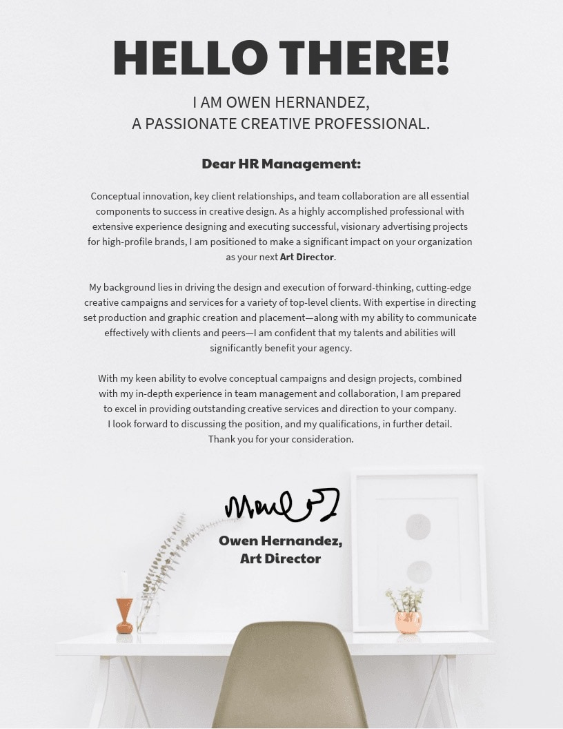 Modern Design Cover Letter Template 1