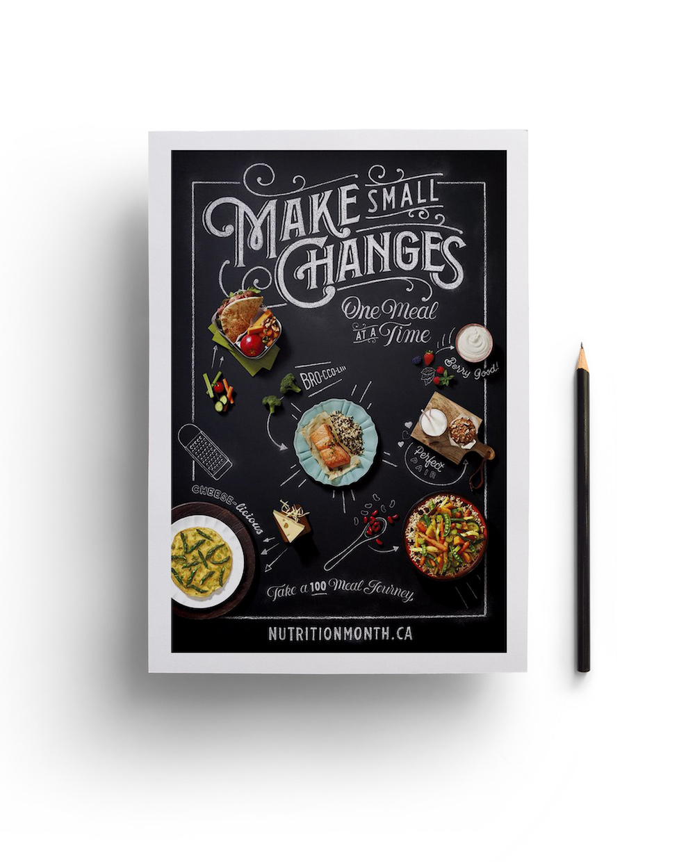 Modern Hand Drawn Food Product Flyer Example