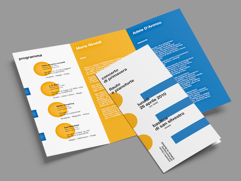 Music Event Marketing Brochure Example