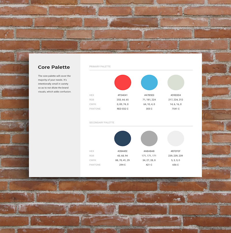One Page Brand Guidelines Templates