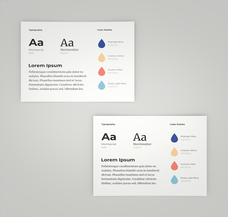 One Page Typography Brand Guidelines Templates