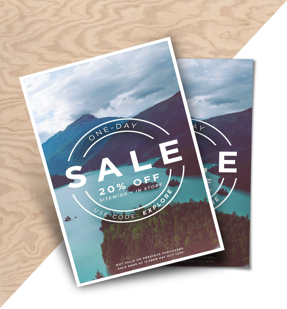 Outdoor Sales Product Flyer Example1