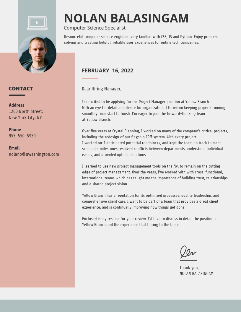 Free Simple Cover Letter Examples from venngage-wordpress.s3.amazonaws.com