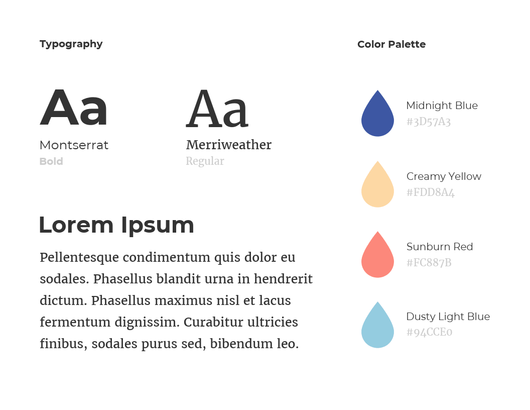 Simple Color Brand Guidelines Templates