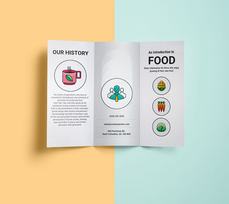 Simple Restaurant Marketing Brochure Template