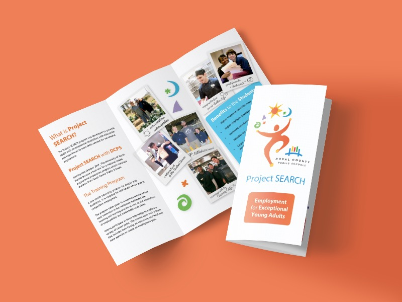 Simple White Nonprofit Marketing Brochure Example
