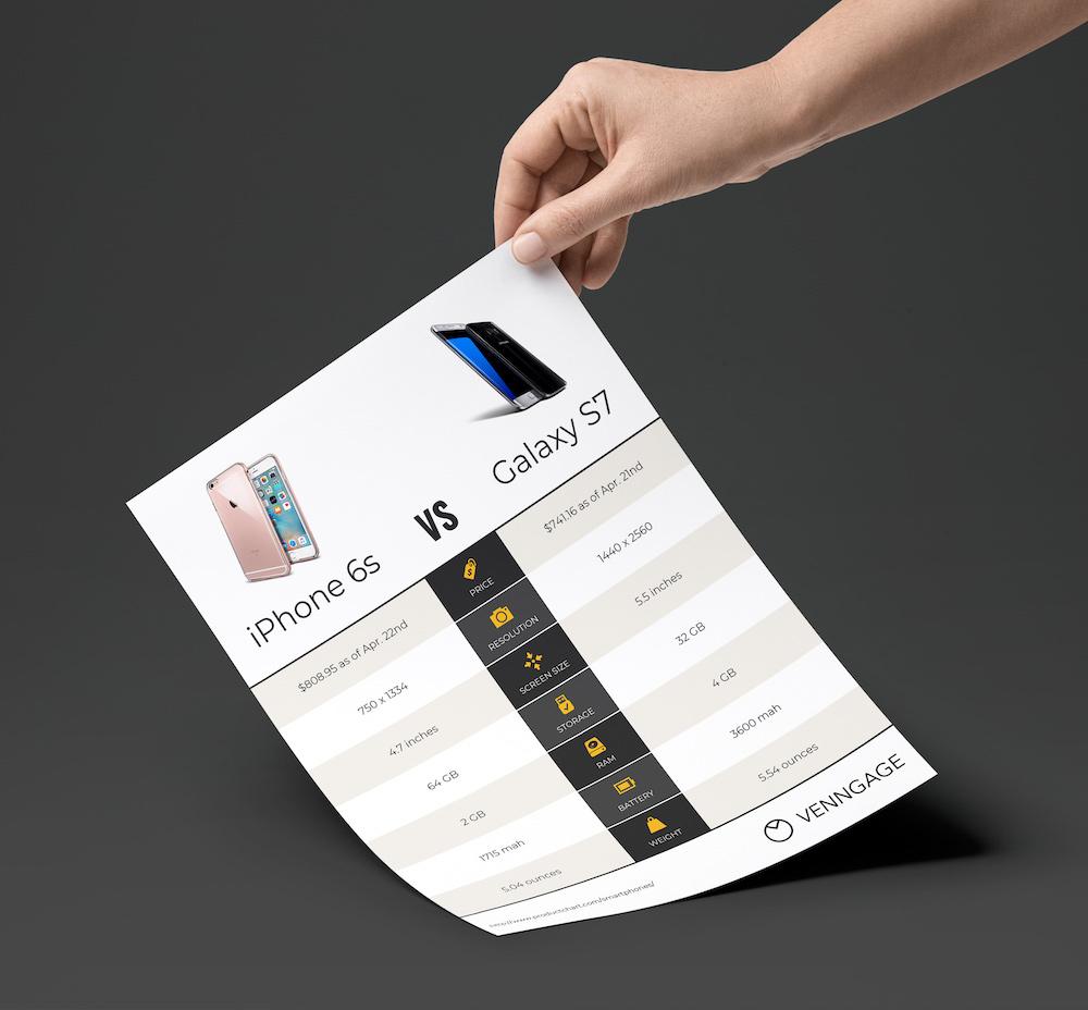 Tech Product Comparison Flyer Template