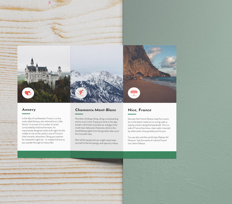 Green France Marketing Travel Brochure Example
