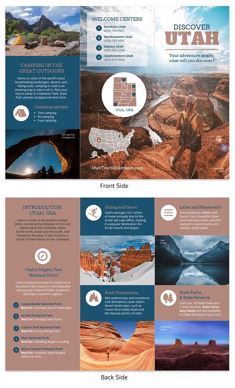 Utah Travel Marketing Brochure Template