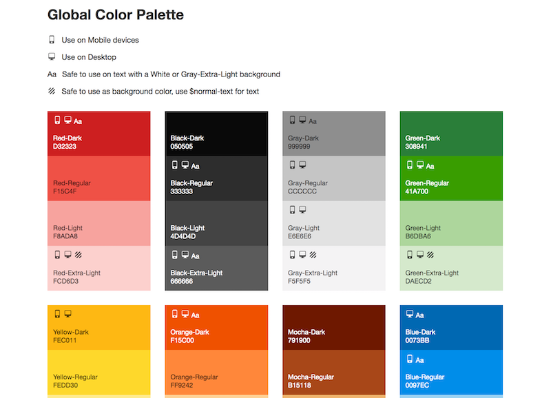 Yelp Color Brand Guidelines Templates