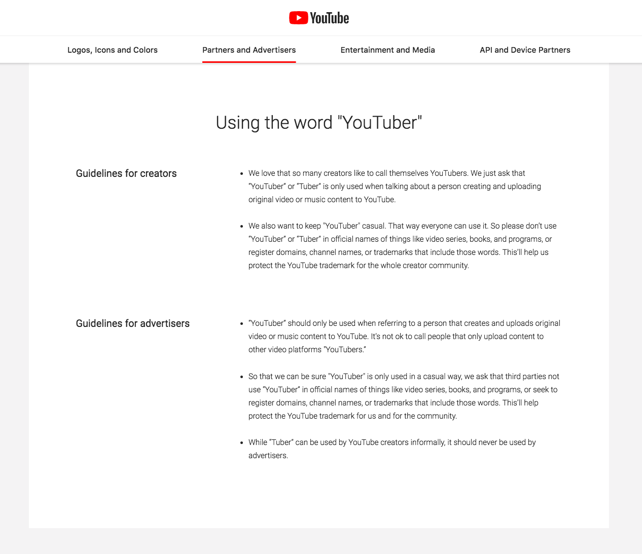 YouTube Brand Guidelines Templates