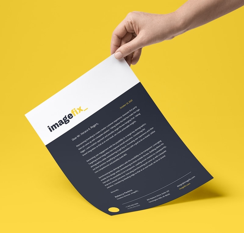 Black Modern Business Letterhead Template