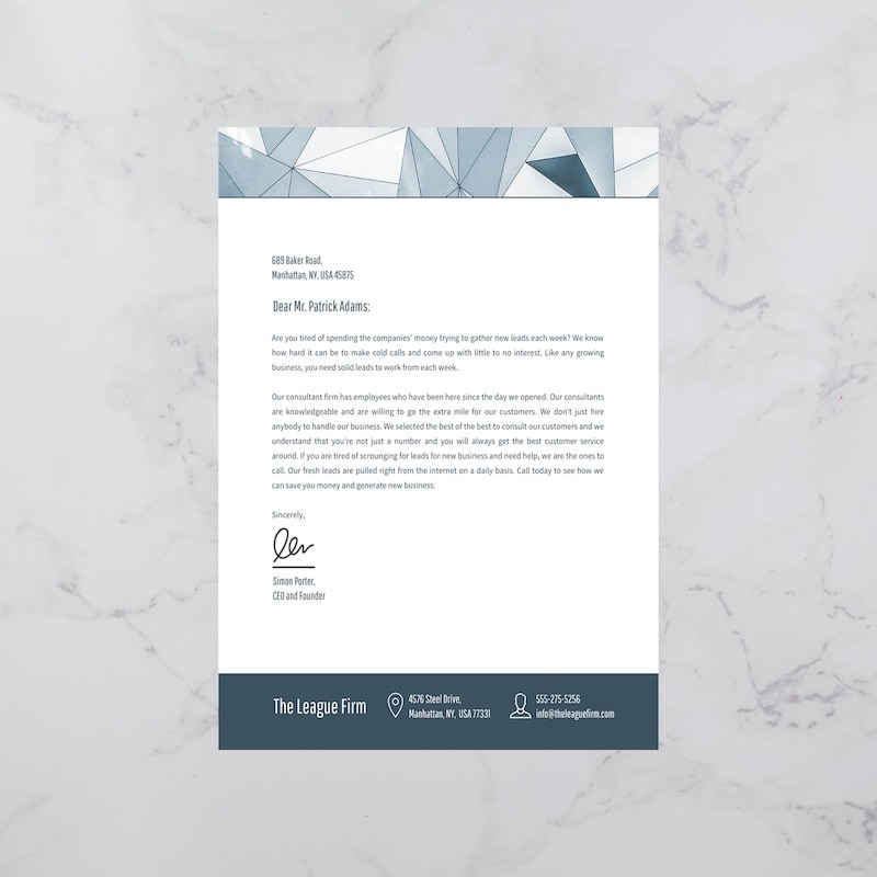 Modern Office Business Letterhead Template1