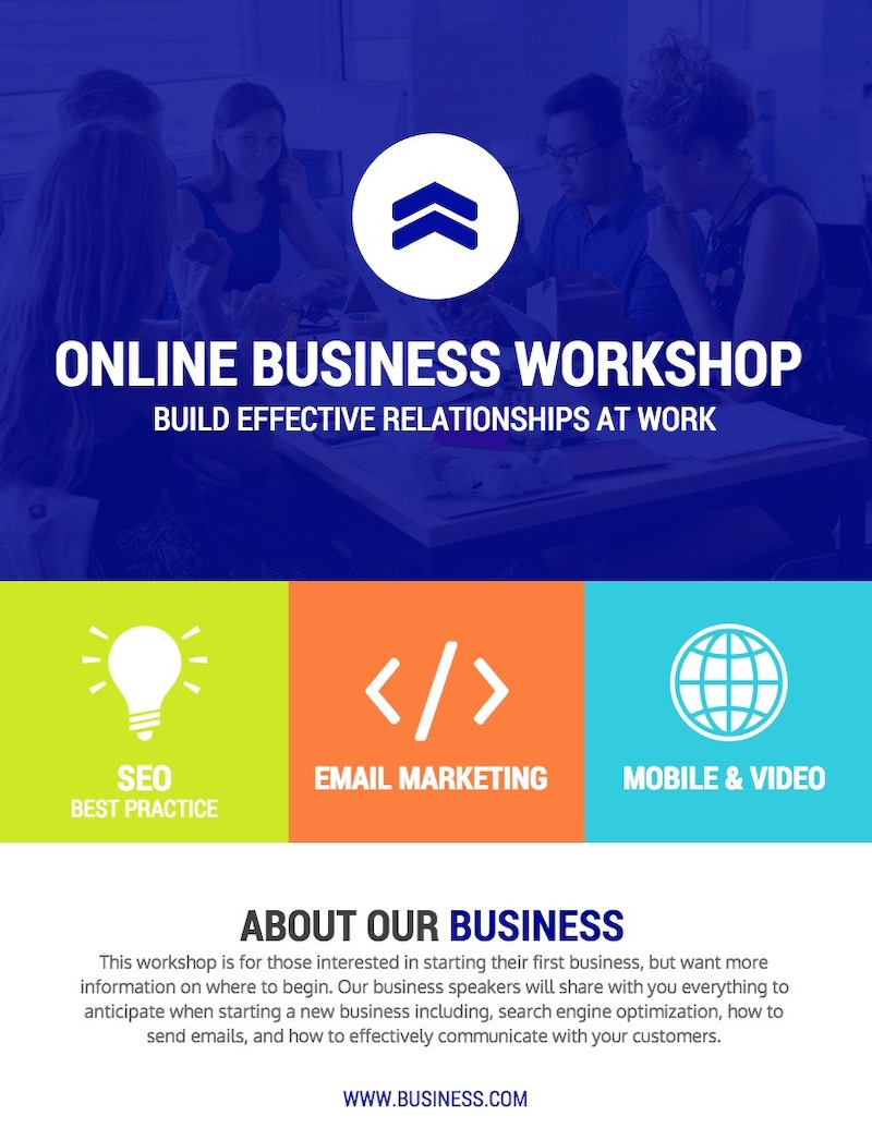 Colorful Business Workshop Event Poster Template