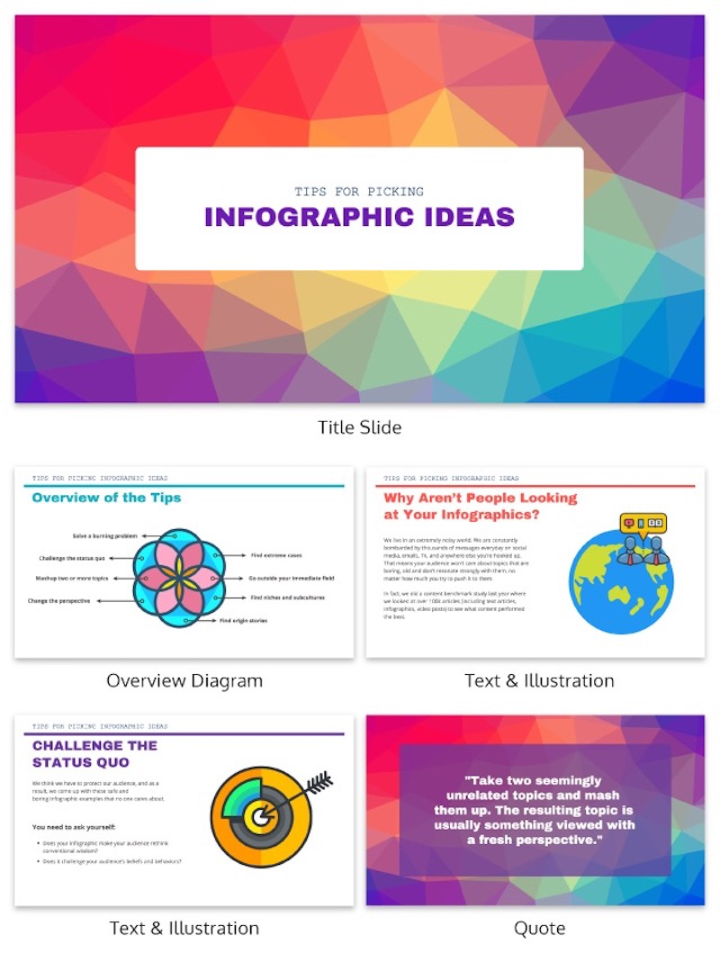 Colorful Geometric Creative Presentation Template