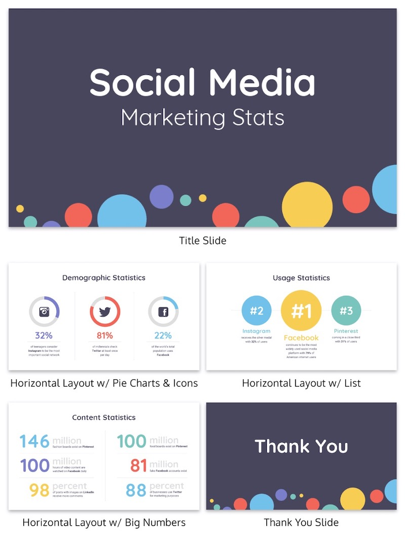 Colorful Social Media Business Presentation Template