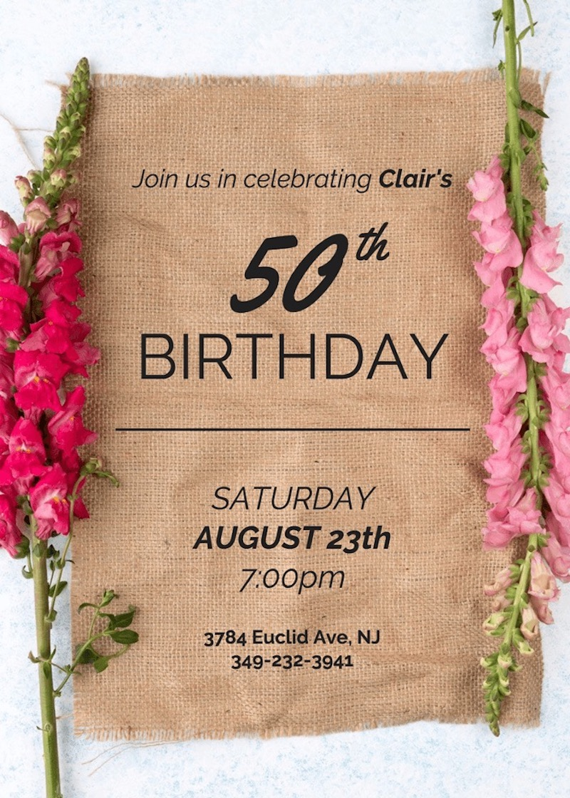 Creative Elegant Birthday Invitation Template