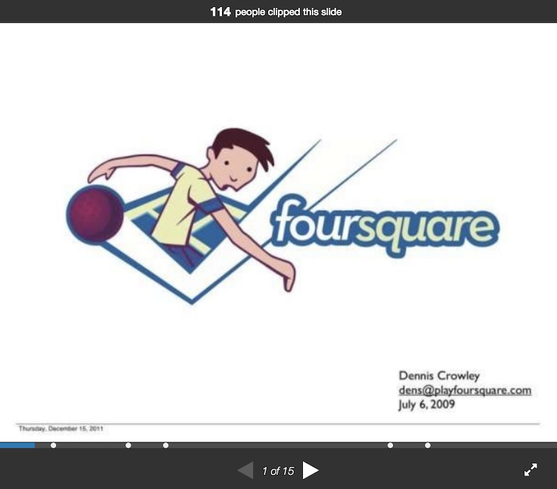 Foursquare Tech Pitch Deck Example