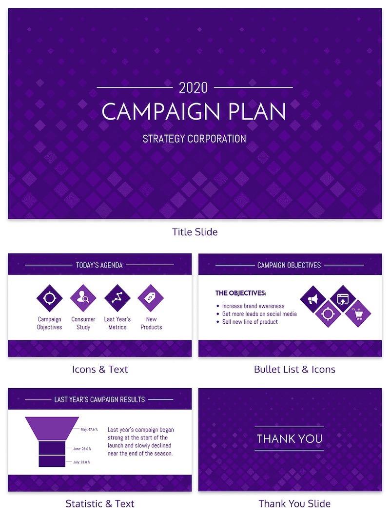Marketing Campaign Plan Business Presentation Template