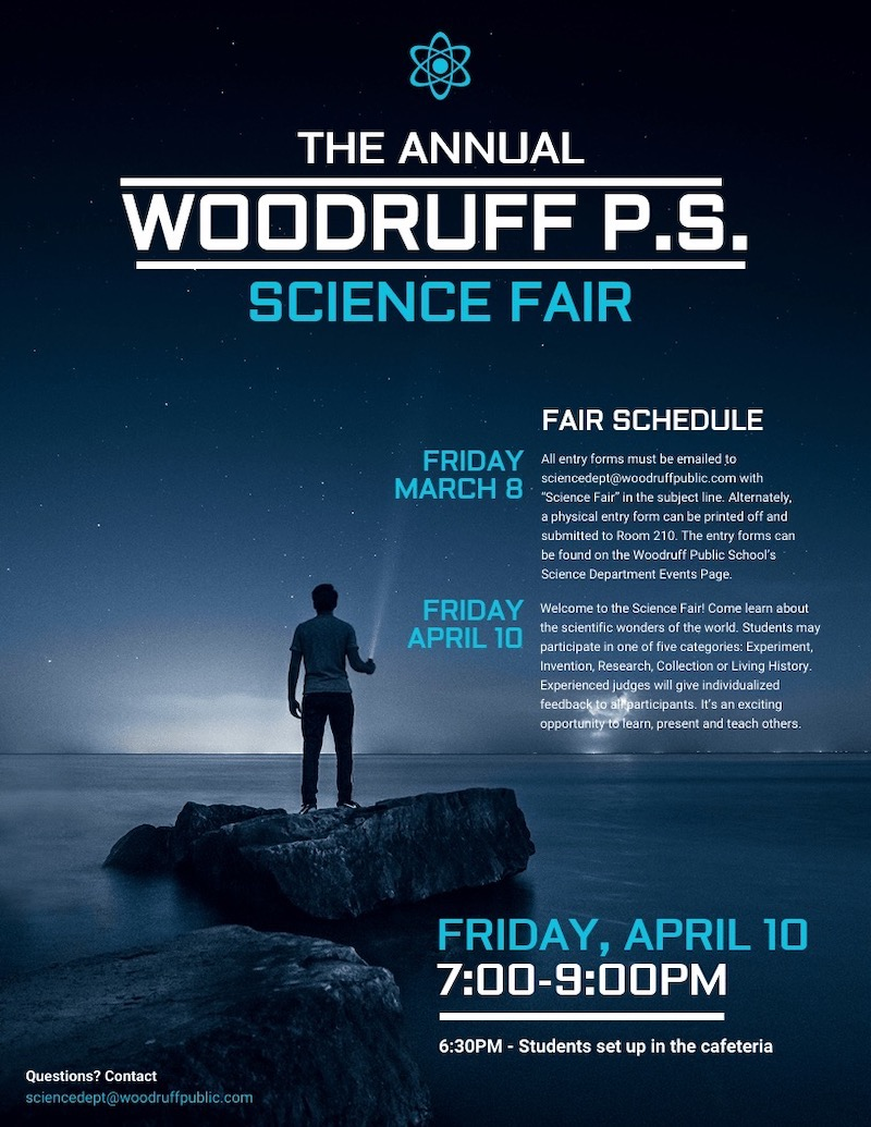Modern Simple Science Fair Event Poster Template
