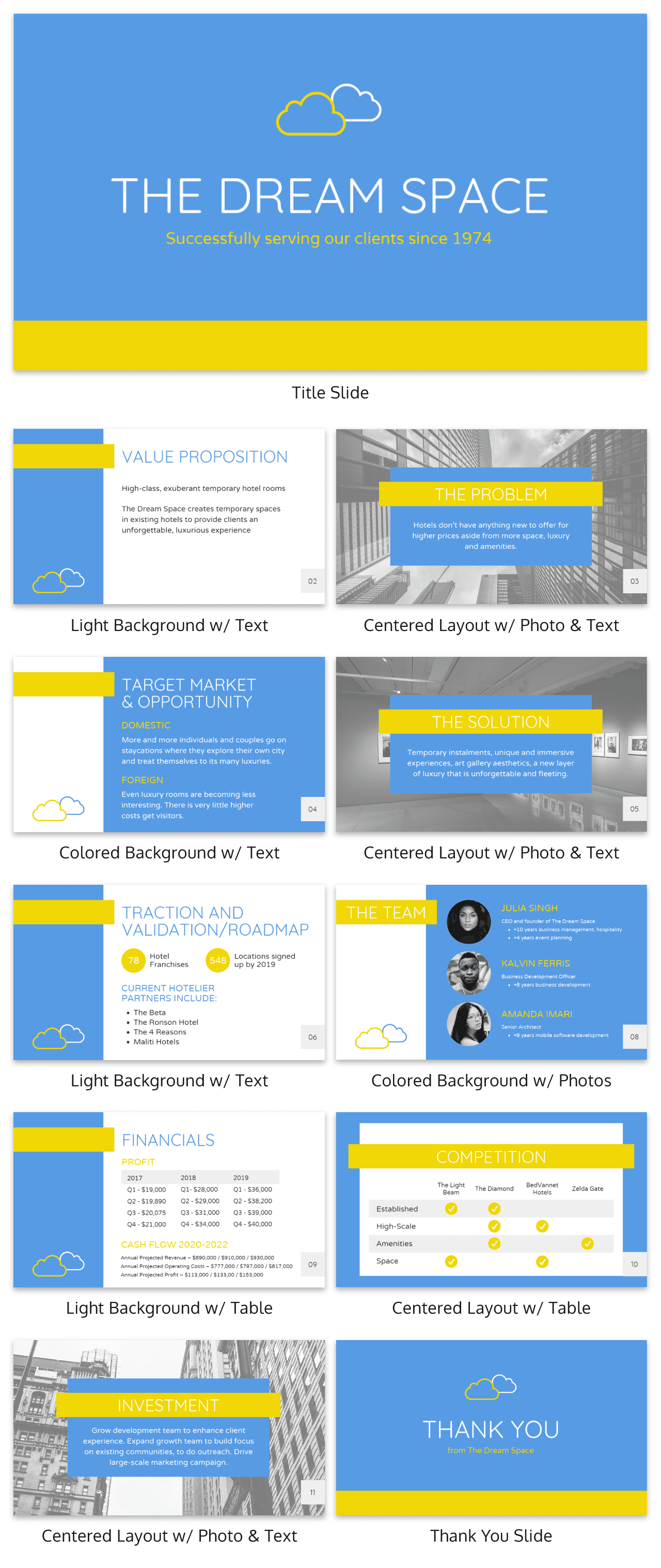 Simple Blue Investor Pitch Deck Template1