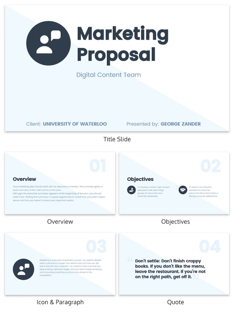 Simple Blue & White Modern Business Presentation