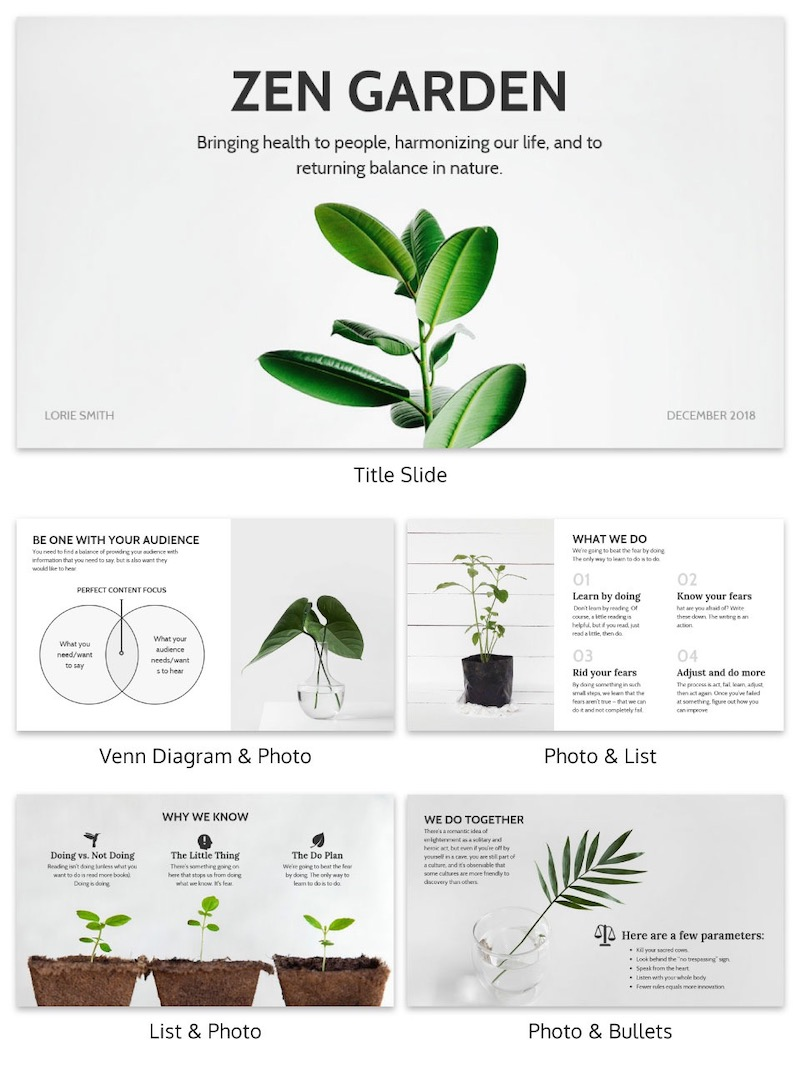 Simple Creative Natural Presentation Template