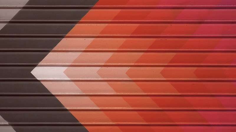 Simple Red Arrow Background Image