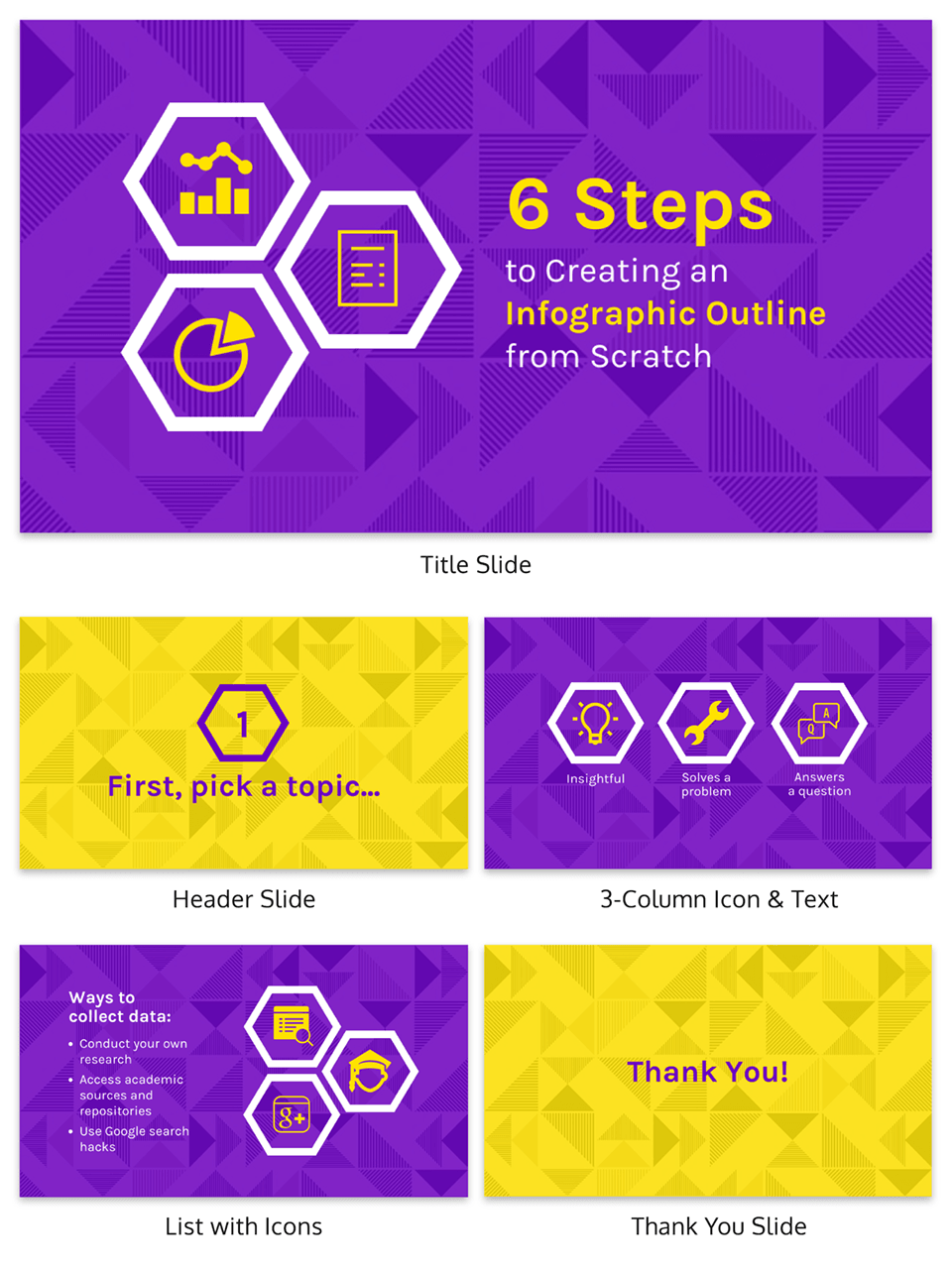 Step By Step Creative Presentation Template