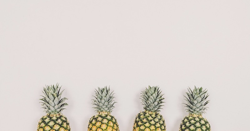 Trendy Pineapple Simple Background Image