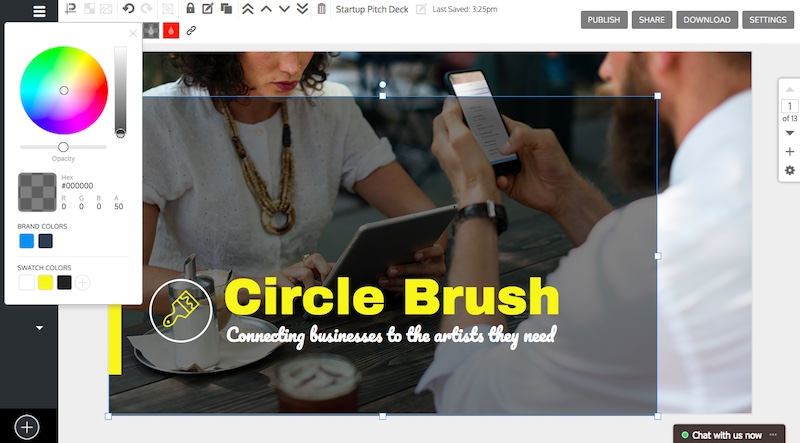 Yellow Business Startup Pitch Deck Example