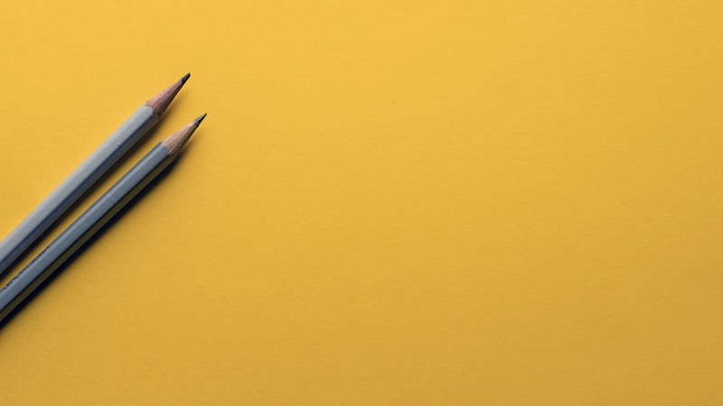 Yellow Desk Simple Background Image